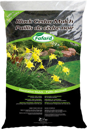 Mulch-Black Cedar (10 bags for $60)