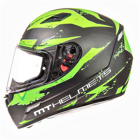 MT HELMETS - MUGELLO VAPOUR FLUO BLACK/GREEN