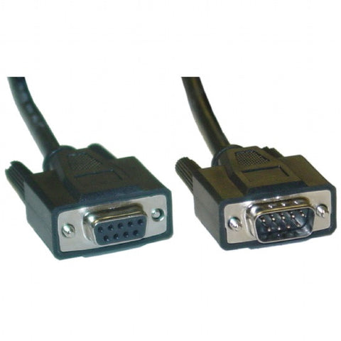 10ft DB9 Serial Cable (Male/Female Plug)