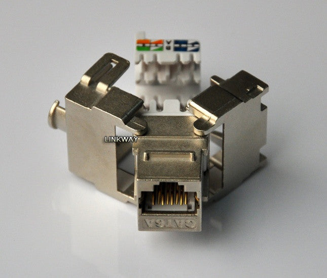 Network Cat6a 10GB 500MHZ Shielded Keystone Jack