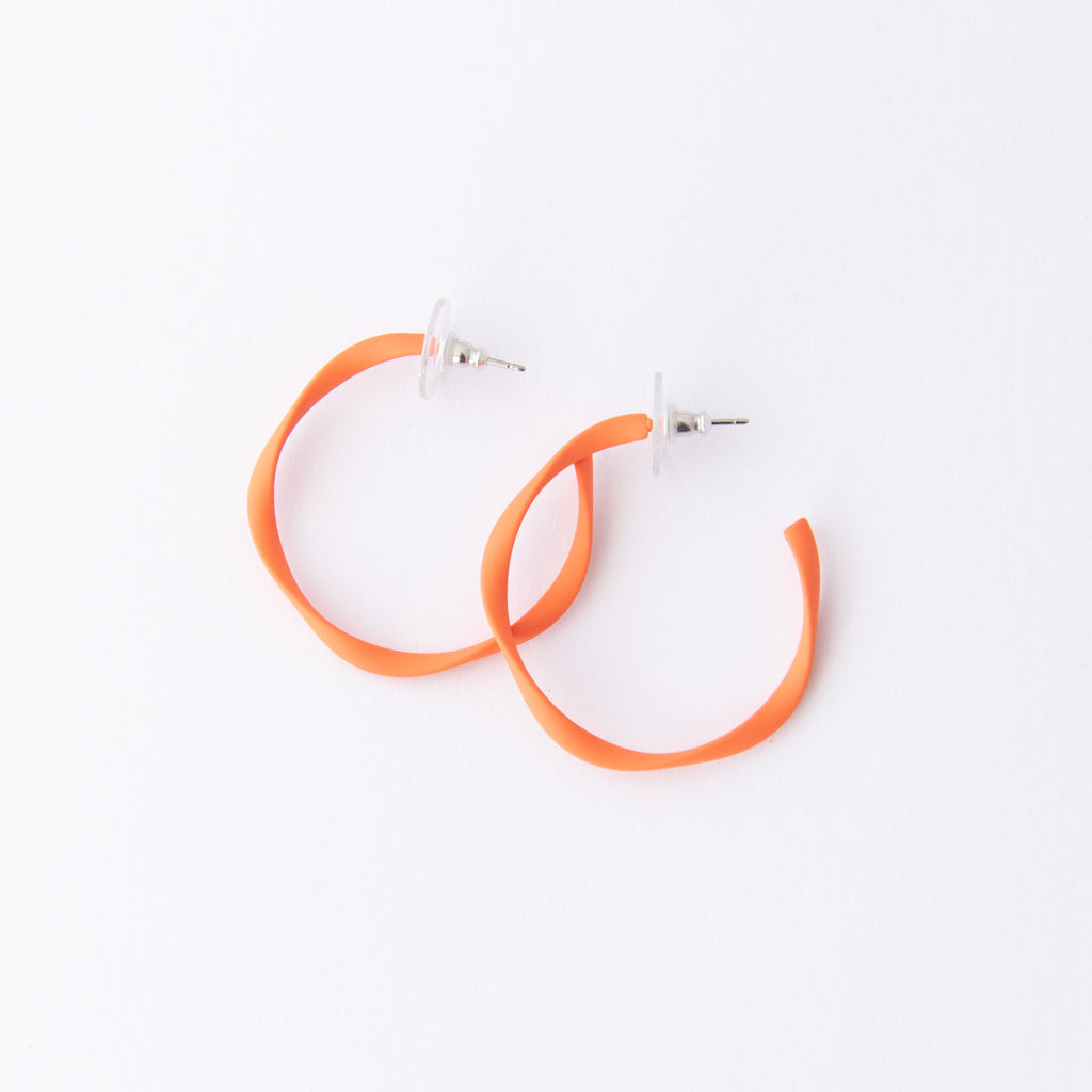 Everyday Twisted Midi Hoop Earrings (14 colours avail)