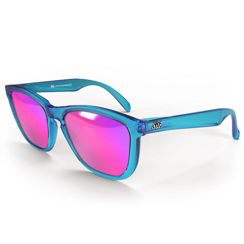 Pre-Picked - Frosted Blue With Pink Polarised Lenses