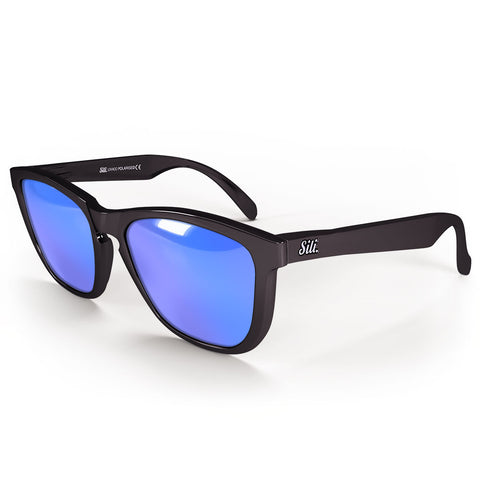 Pre-Picked - Gloss Black With Ice Blue Polarised Lenses