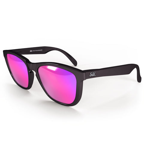 Pre-Picked - Gloss Black With Pink Polarised Lenses