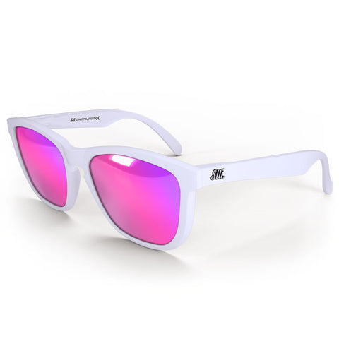 Pre-Picked - Matte White With Pink Polarised Lenses