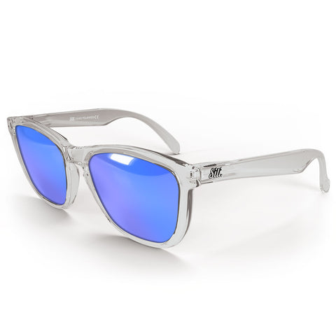 Pre-Picked - Transparent With Ice Blue Polarised Lenses