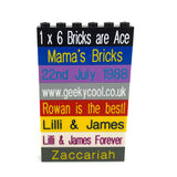 Personalised Bricks