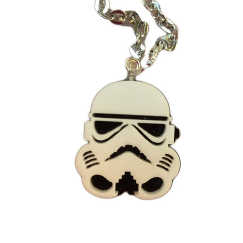 Storm Trooper Necklace (Small, White)