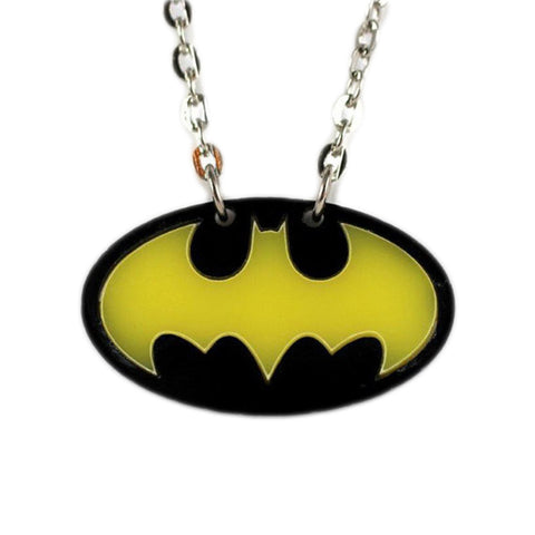 Batman Logo Necklace (Yellow Bat)