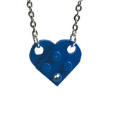 Lego Heart Necklace with Genuine Swarovski Crystal