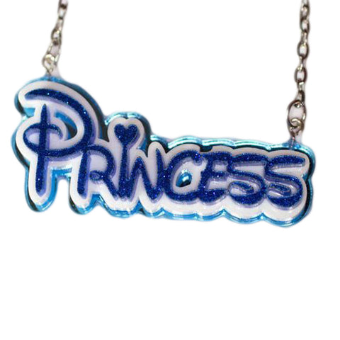 Disney inspired Princess Blue Necklace