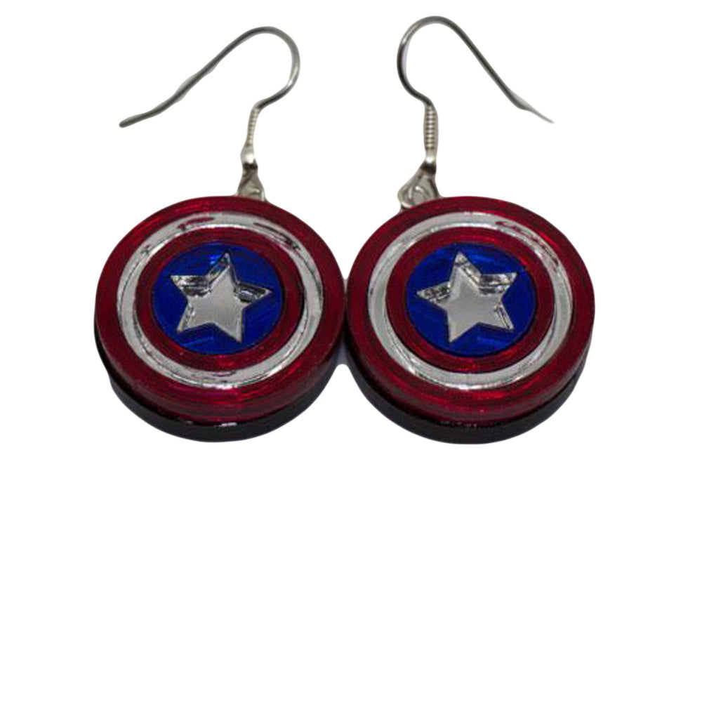 captain america earrings captain america earrings geekycool 7431