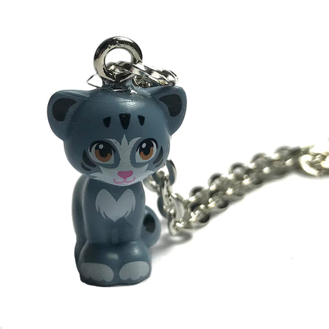 Lego Cat Necklace (grey sitting)