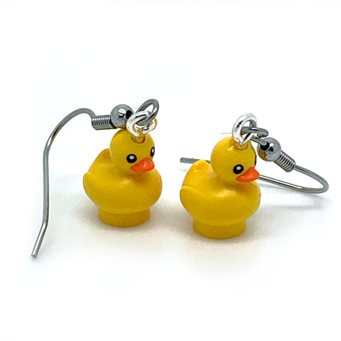 Duck Earrings made using Up-cycled LEGO® pieces