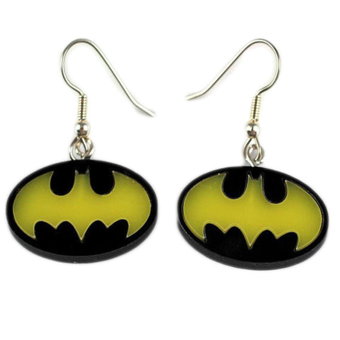 Batman Yellow Bat Earrings