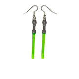 Lightsaber Earrings - All Colours - made using up-cycled LEGO® pieces