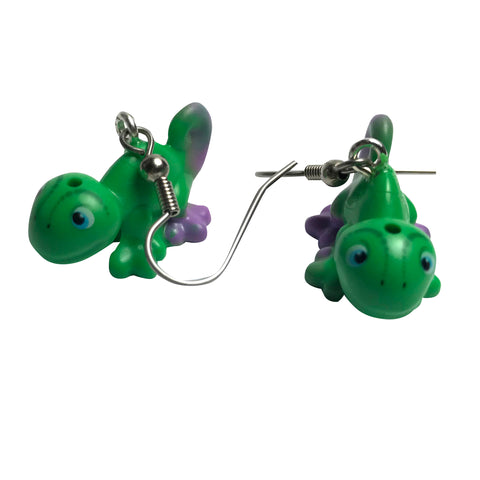 Pascal Chameleon Earrings made using up-cycled LEGO® pieces