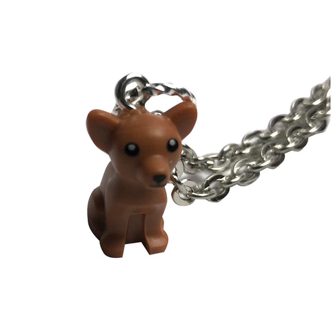 Lego Chihuahua Necklace