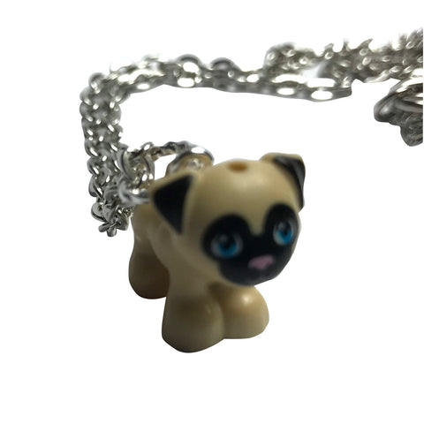 Pug Necklace made using up-cycled LEGO® pieces