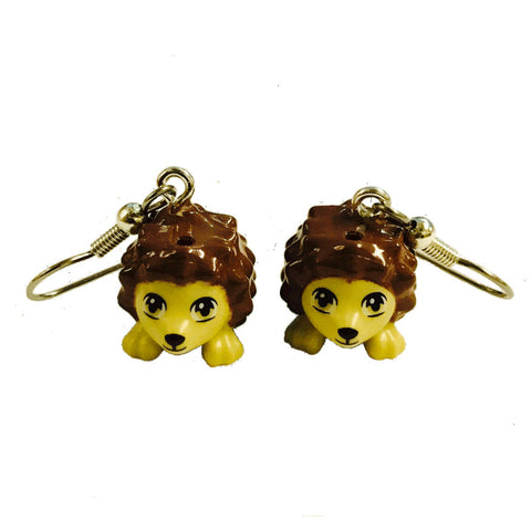 Hedgehog Earrings made using up-cycled LEGO® pieces