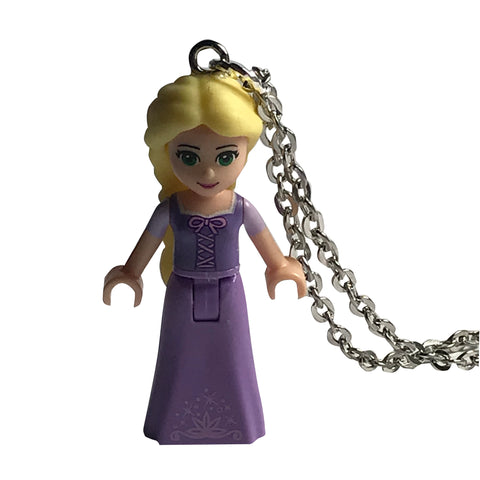 Repunzel Necklace made using up-cycled LEGO® pieces