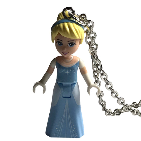 Cinderella Necklace (New Style) made using up-cycled LEGO® pieces