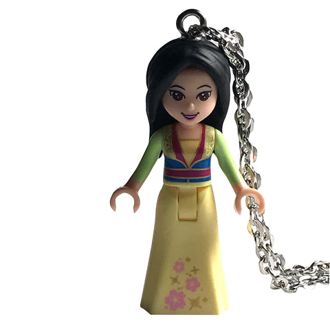 Mulan Necklace made using up-cycled LEGO® pieces