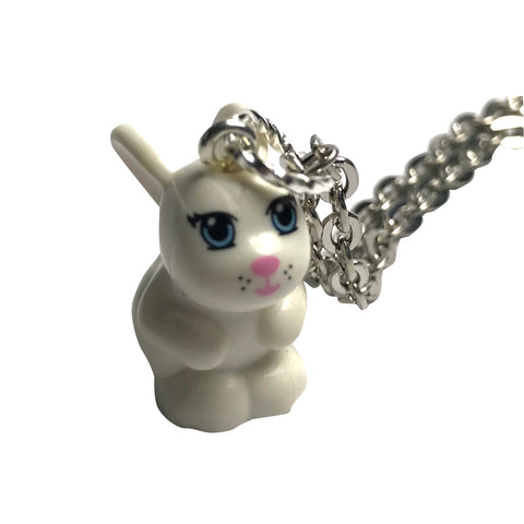 Lego Rabbit Necklace (white)