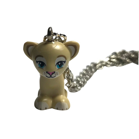 Lion Cub Necklace made using up-cycled LEGO® pieces