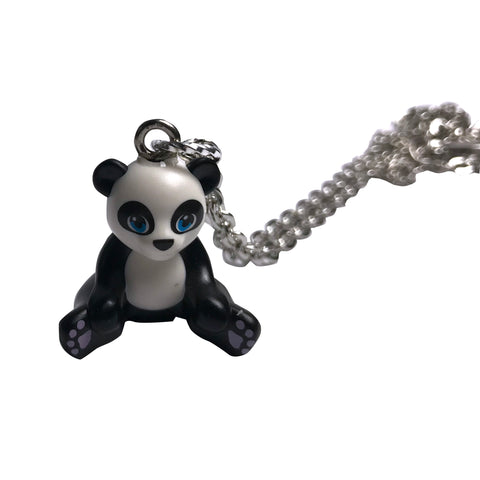 Panda Bear Necklace made using up-cycled LEGO® pieces
