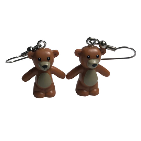 Lego Teddy Bear Earrings