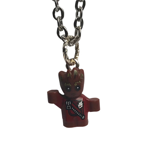 Baby Groot Necklace made using up-cycled LEGO® pieces