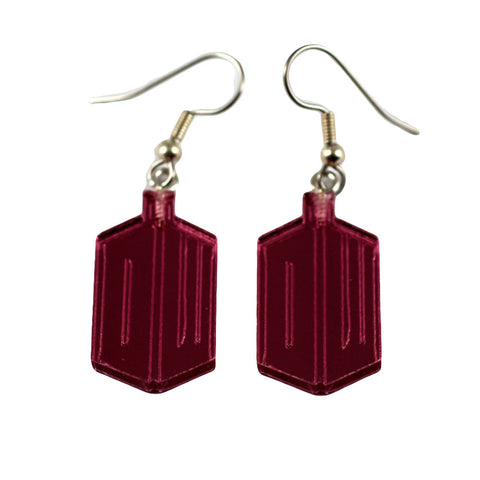 Dr Who Earrings (DW Pink)