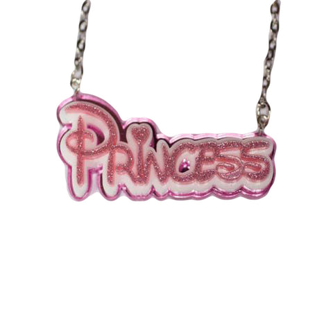 Disney inspired Princess Pink Necklace
