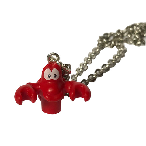 Sebastian Necklace (Little Mermaid) made using up-cycled LEGO® pieces