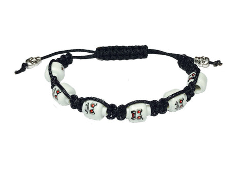 Shamballa Bracelet (Black - Lord Vampire) made using up-cycled LEGO® pieces