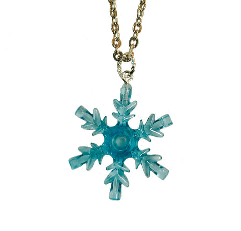 Snowflake Necklace (Turquoise) made using up-cycled LEGO® pieces