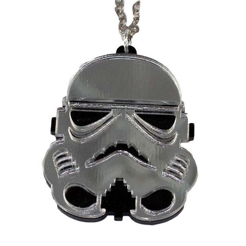 Storm Trooper Necklace (Small, Silver)