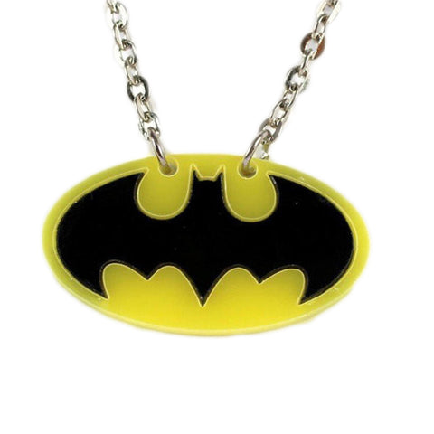 Batman Logo Necklace (Black Bat)