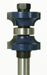 "WL-1120-1 Double Roundover w/Center Bearing Router Bit 1/4"" Radius, 7/8"" Opening, 1-3/8"" Cut Length, 1/2"" Shank Woodline USA"