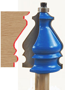 "Architectural Molding Router Bit WL-1141 1-3/8"" Dia, 1-3/4"" Cut Length, 1/2"" Shank Woodline USA"