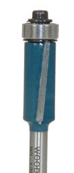 "Flush Trim w/Shear WL-1203-1 1/2"" Dia, 1"" Cut Length, 1/4"" Shank Woodline USA"