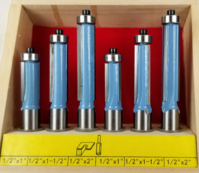 6PC FLUSH TRIM BIT SET WL 1206-6