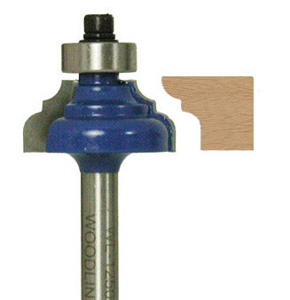 "Classical Ogee Router Bit WL-1250 5/32"" Radius, 1-1/8"" Dia, 1/2"" Cut Length, 1/4"" Shank Woodline USA"