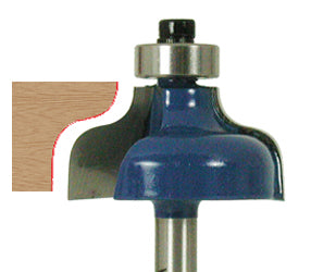 "Ogee Router Bit WL-1261 3/16"" Radius, 1-1/4"" Dia, 9/16"" Cut Length, 1/4"" Shank Woodline USA"
