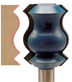 "Crown Molding Router Bit WL-1456 1-3/8"" Dia; 1-13/16"" Cut Length; 1/2"" Shank"