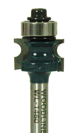 "WL-1460 Full Bead 3/32"" Radius, 3/16"" Bead, 11/16"" Dia, 7/16"" Cut Length, 1/4"" Shank Woodline USA"