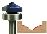 "Plunging Molding Router Bit WL-1486 Cove & Bead w/Bearing 1/4-25/64"" Radius, 1-3/8"" Dia, 5/8"" Cut Length, 1/2"" Shank Woodline USA"