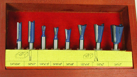 Dovetail Joinery 8pc Router Bit Set Woodline Usa