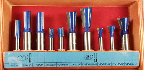 WL-1711 DOVETAIL SET 10pc FOR LEIGH™ JIG